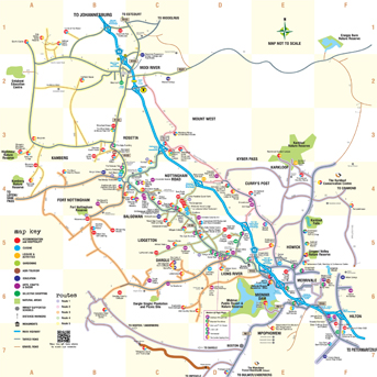 Drakensberg Midlands Meander Map and Tourist Routes