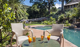 Poolside drinks at The Cavern Resort and Spa
