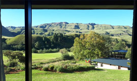 View from your room at The Sani Pass Hotel