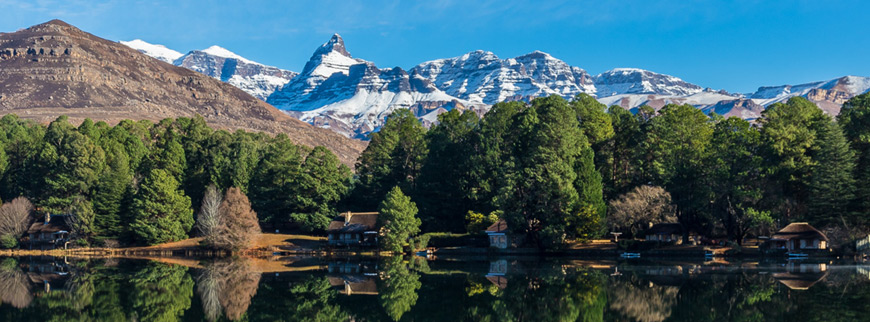 Southern Drakensberg with snow
