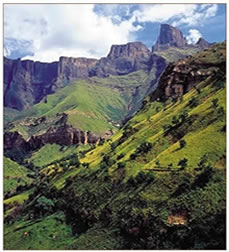 Midlands Meander Route Map in the Drakensberg Mountains